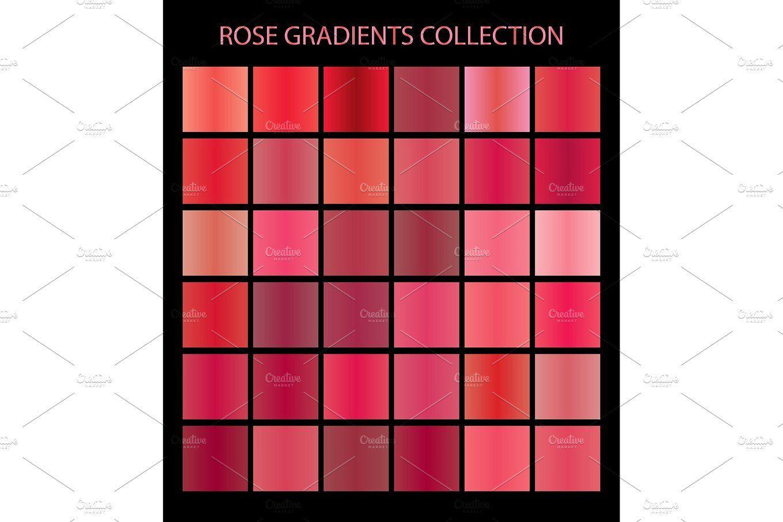 36 vector rose color gradients Gradient color, Rose