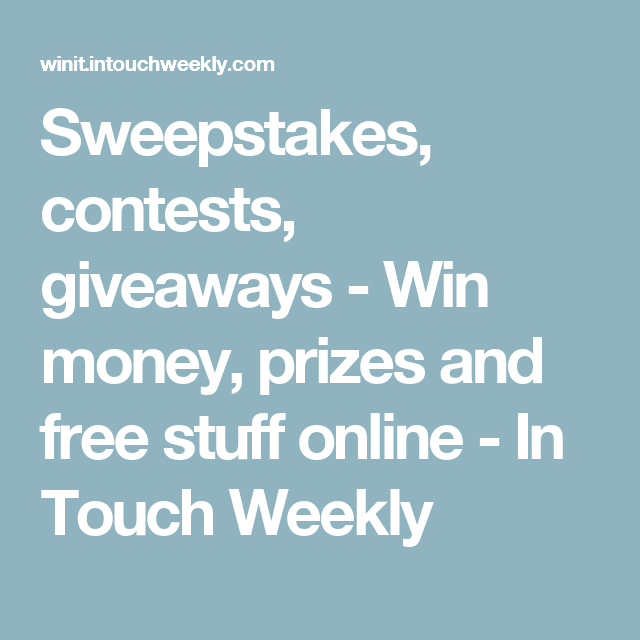 Online giveaways and sweepstakes