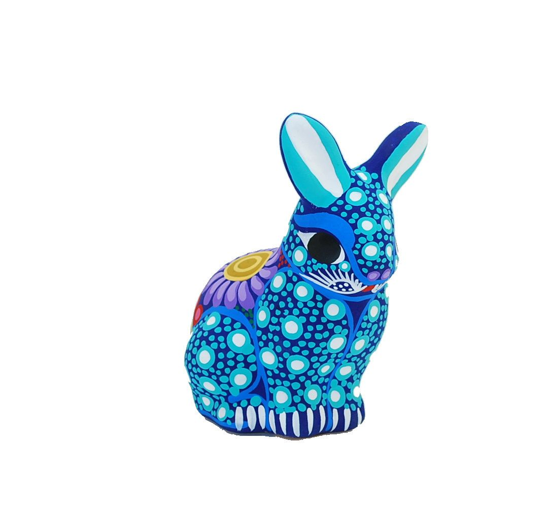 Turquoise ceramic rabbit  pottery bunny  teal by HolaPapelMache, $11.00
