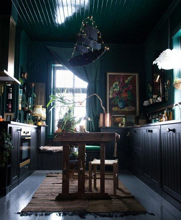 Going Dark Vintage Lovers House Tour The Beautiful And The Damned Dark Interiors Norwegian House Home