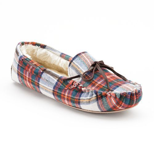 ea65c6d1e My new pair of SONOMA life + style Flannel Moccasin Slippers~ obsessed!  Thanks kohls  )