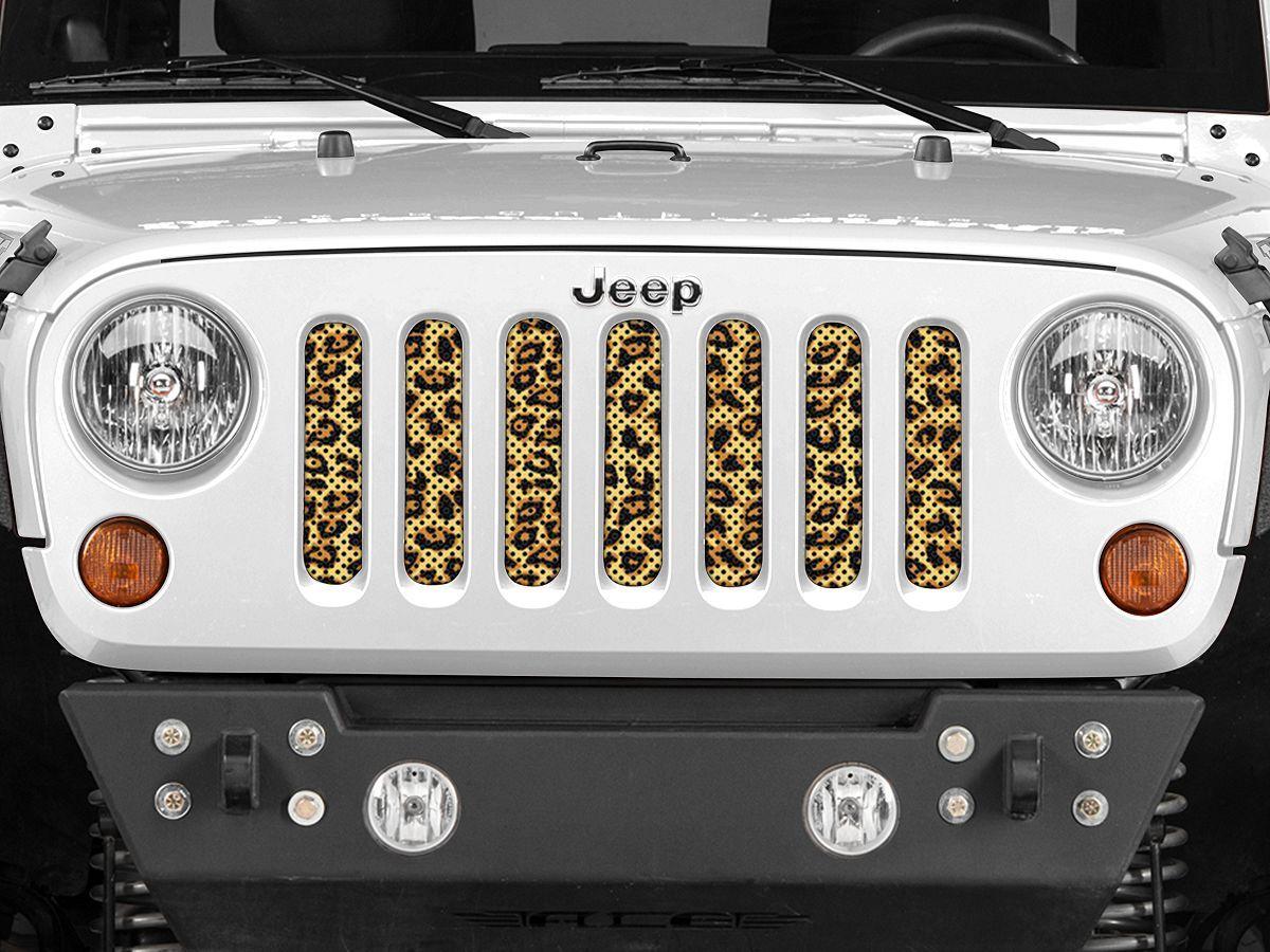 Under The Sun Jeep Wrangler Grille Insert Leopard Print Insrt Leo Jk Hjfz 07 18 Jeep Wrangler Jk Jeep Wrangler Jk Jeep Wrangler Jk