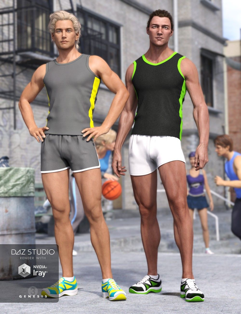 Run With It Outfit for Genesis 3 Male(s) | 3D Models and 3D Software