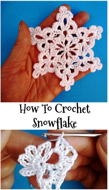 Little Snowflake Crochet Pinterest Crochet Crochet Snowflakes