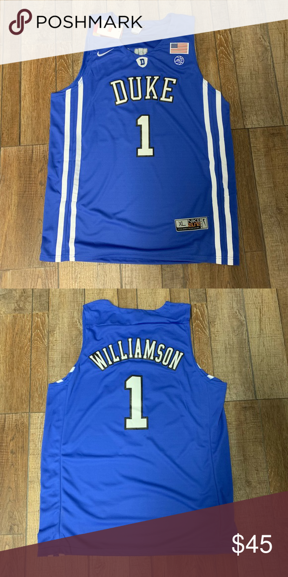 dab785648ec0 NWT Zion Williamson Duke Blue Devils Jersey XL Brand New with Tags Men s  Size XL Zion Williamson  1 Authentic   Official College Basketball Jersey  Perfect ...