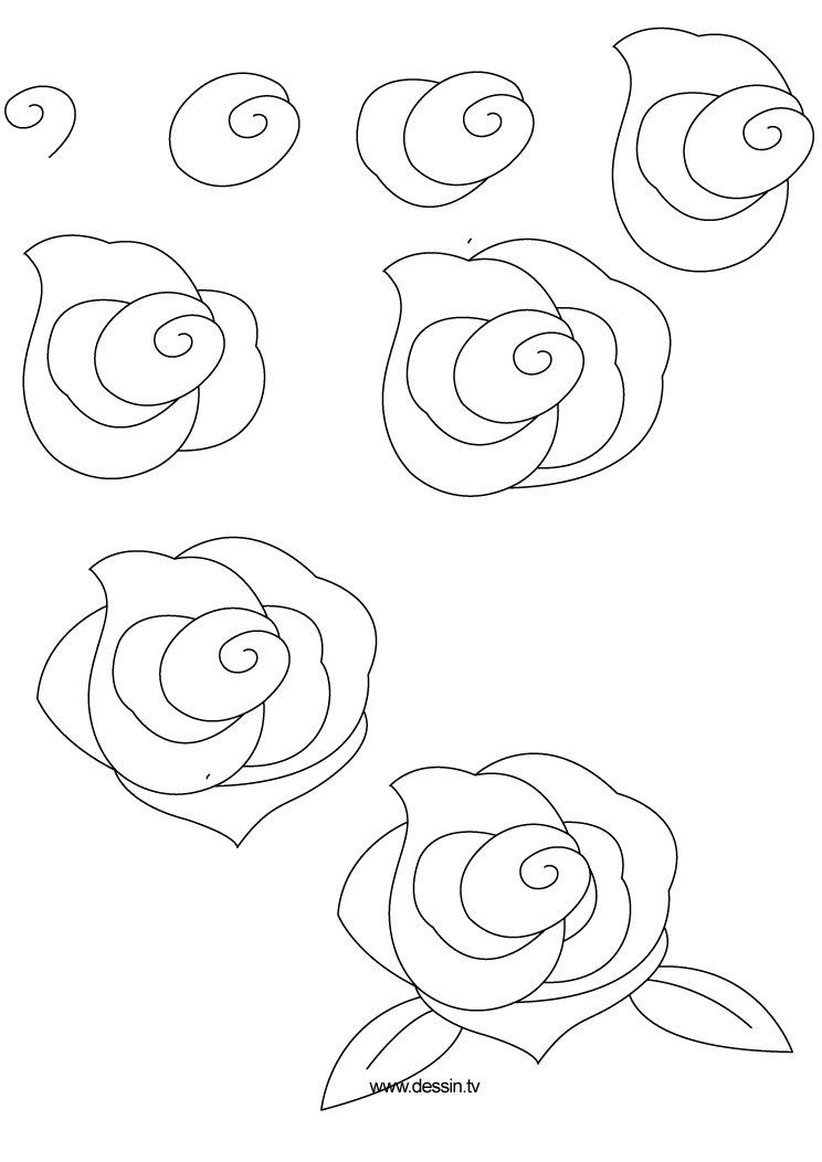 How to draw flowers learn how to draw a rose with simple step by step instructions followpics co