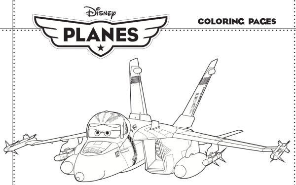 Coloring Pages Planes Disney