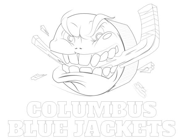 Printable Columbus Blue Jackets Coloring Sheet