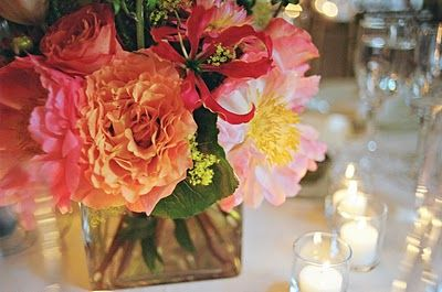 Flowers via Party Resources blog