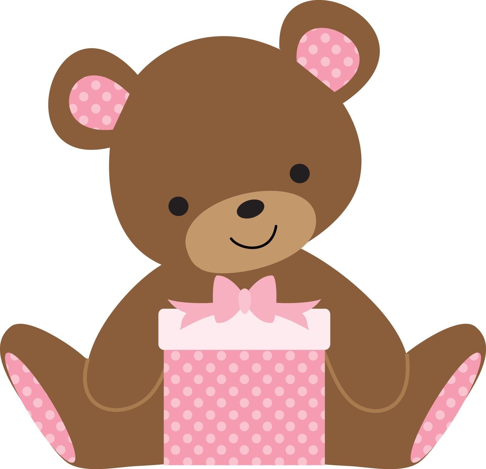 GIRL TEDDY BEAR CLIP ART