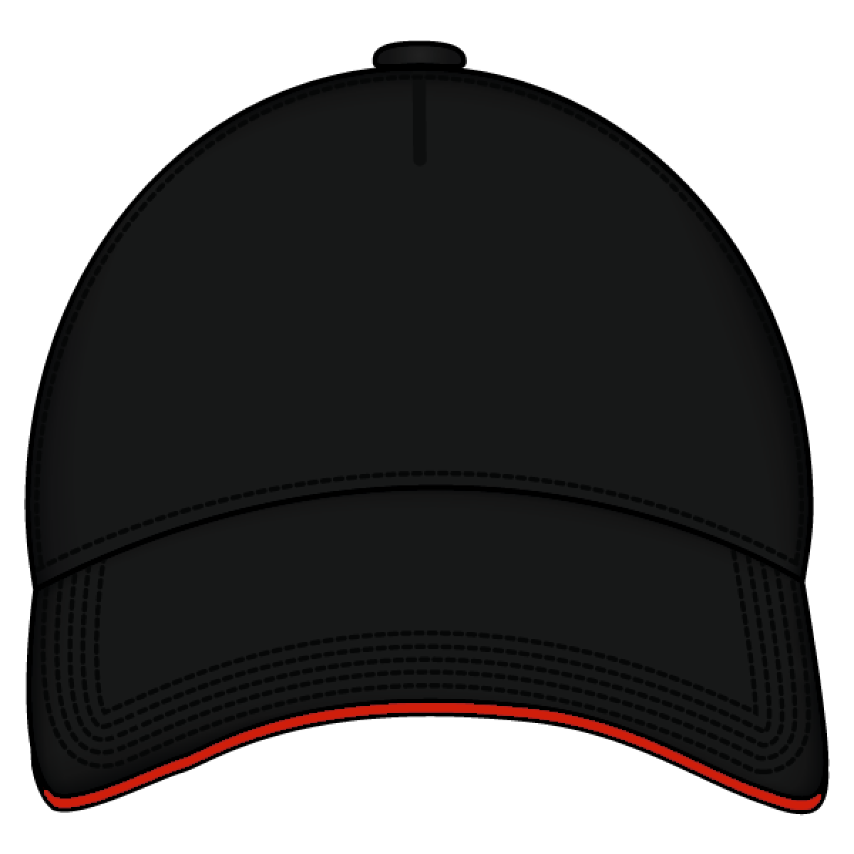 Sandwich Cap Black And Red Png Image Baseball Cap Black And Red Cap