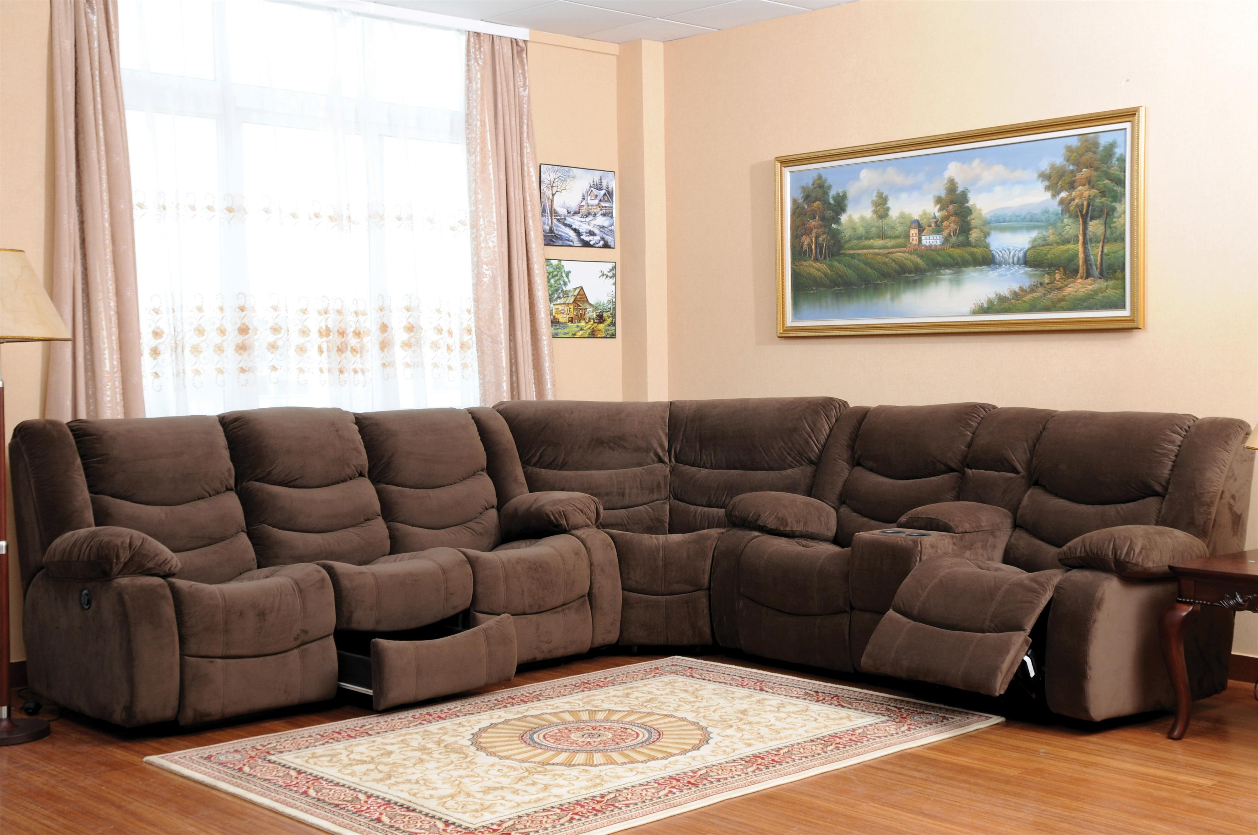 Lovely Reclining Sectional Sofa With Storage And Console East Smithfield, Lock  Haven, Mansfield, Milton