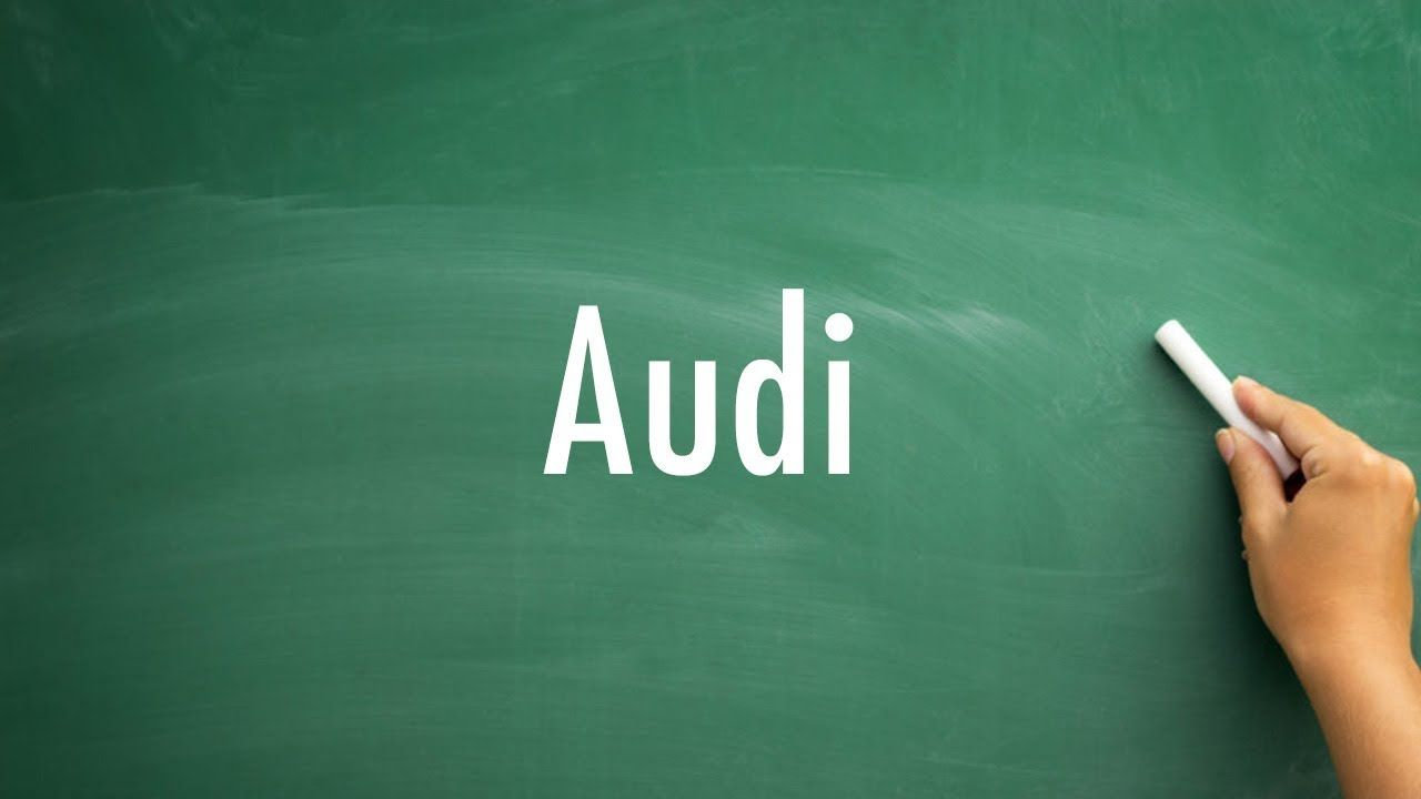How To Pronounce Audi >> How Do You Pronounce Audi Learn Pronunciation How To