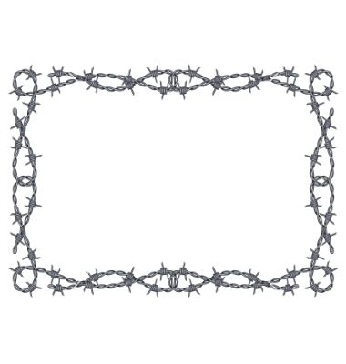 Barbed Wire Frame Vector Image On Barbed Wire Barbed Wire Art
