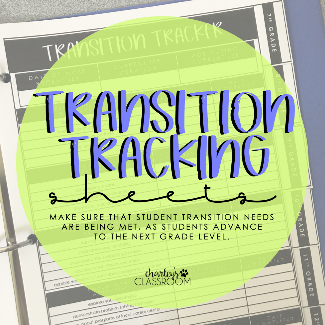 Iep Transition Tracking Sheets