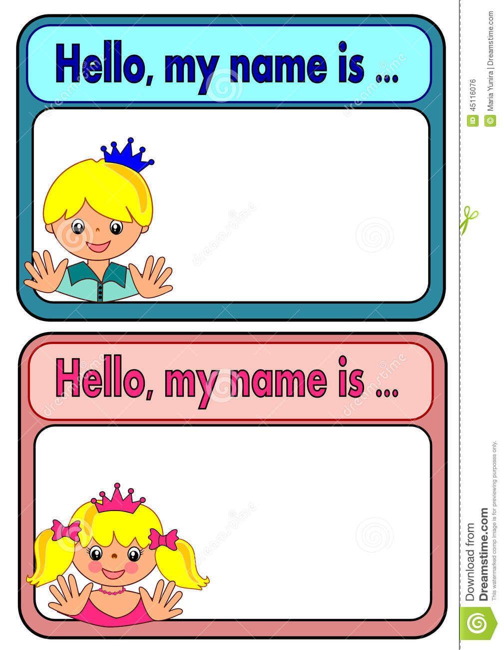 Related Image Preschool Name Tags Name Tag Templates Printable Name Tags