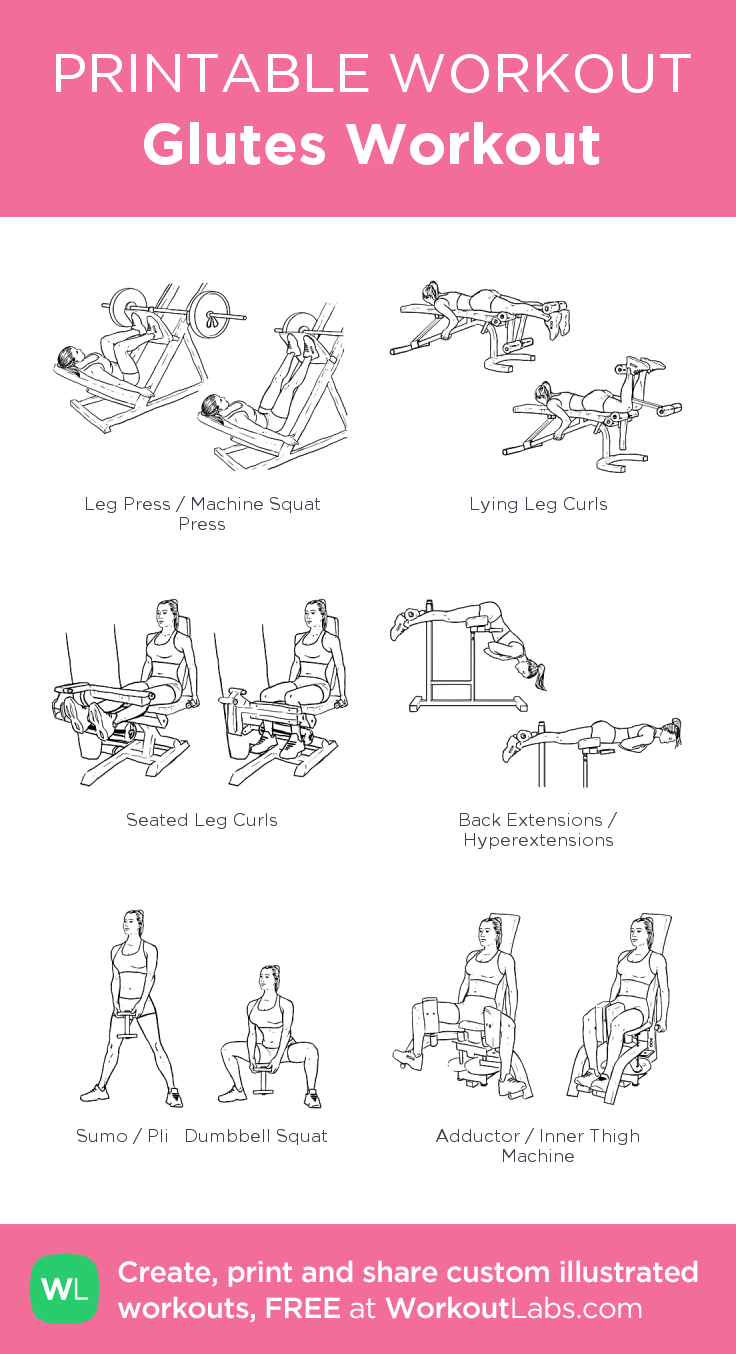 Glutes Workout · Free workout by WorkoutLabs Fit