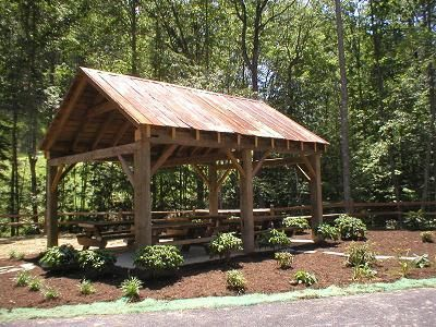 Image Result For Rustic Pavilion With
