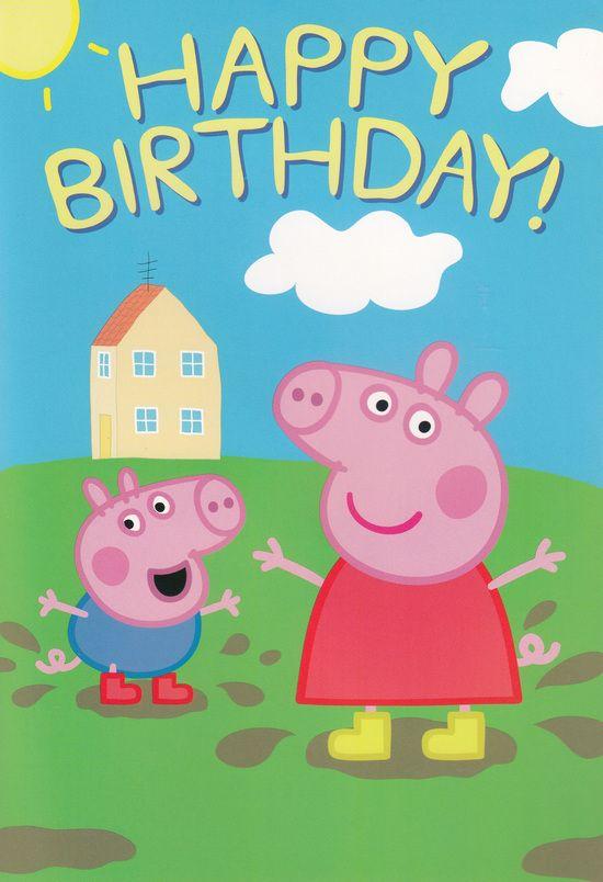 Hallmark Interactive Birthday Card Peppa Pig In 2020 Pig Birthday Peppa Pig Painting Peppa Pig Birthday