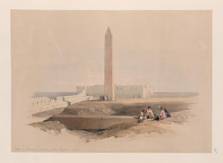 Obelisk at Alexandria, commonly called Cleopatra's needle  by David Roberts