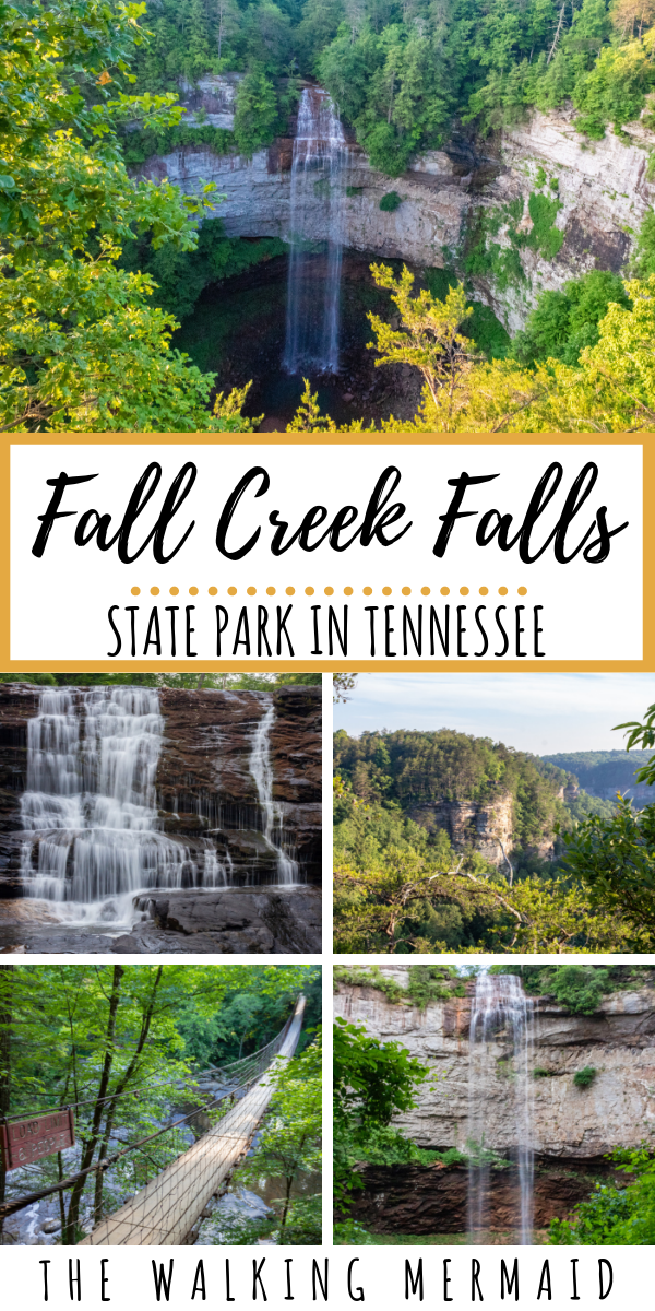 Fall Creek Falls State Park in Tennessee is home to many gorgeous waterfalls, creeks, cascades, and hiking trails. In this guide you can find all of the details for the best hiking trails in the park as well as the best campsites for you to camp at. Click here to see why you should be adding this Tennessee gem to your bucketlist. #thewalkingmermaid #travel #hiking #camping #tennessee