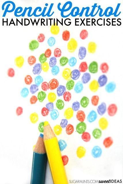 Rainbow Pencil Control Exercises | Fine Motor Skills