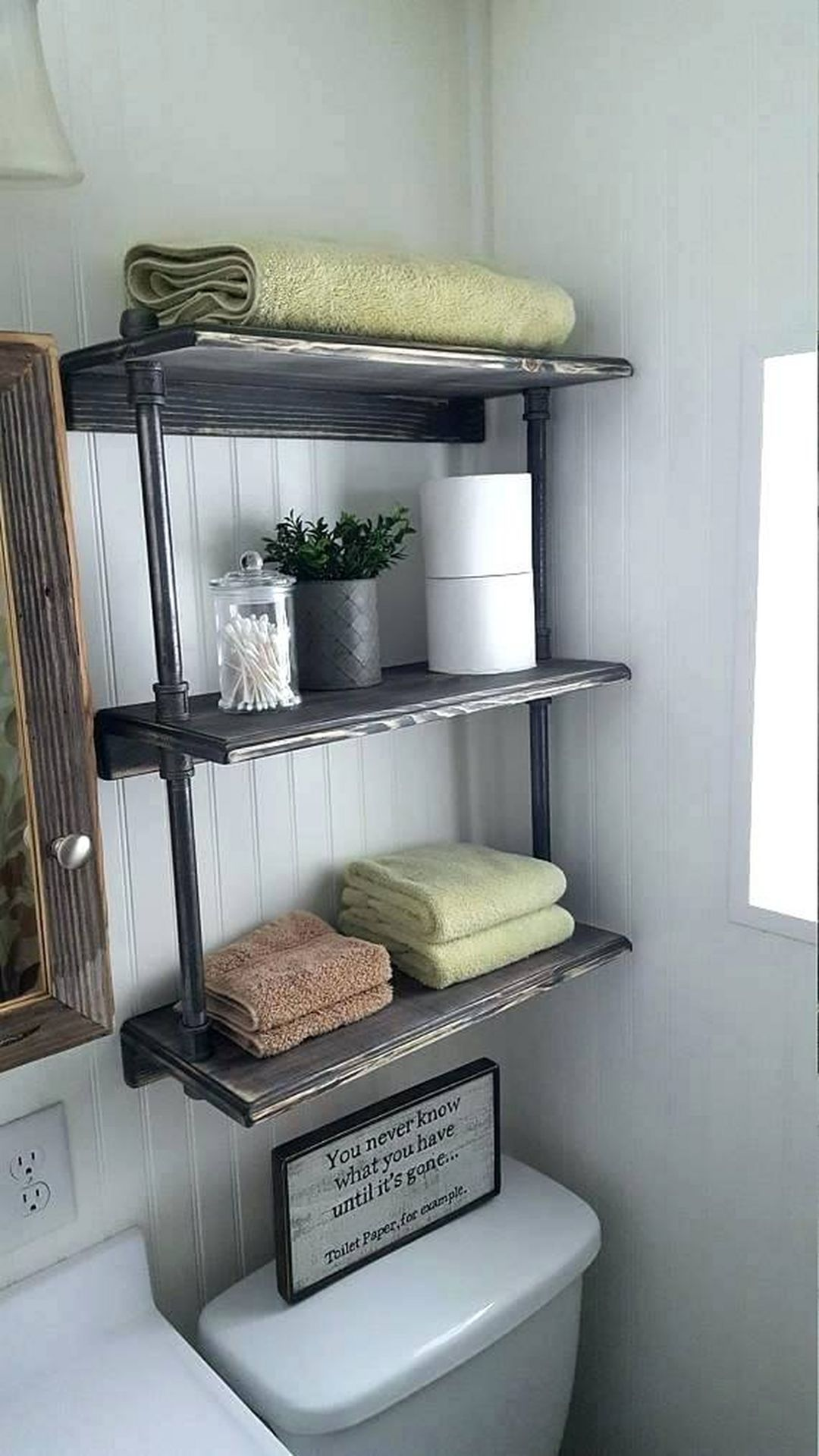 Rolling Towel Shelving Unit from Wooden Crates Diy