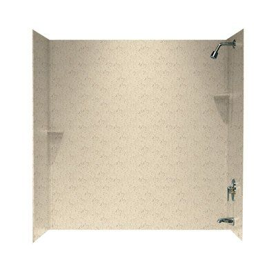 Swan Solid Surface 60 X 60 X 30 Three Panel Shower Wall