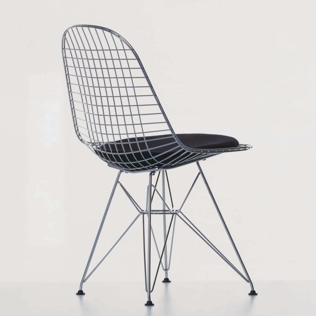 Contemporary metal chair by Charles & Ray Eames - WIRE CHAIR : DKR ...