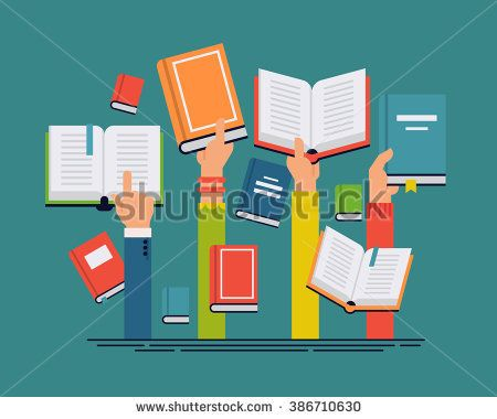 Vector Set Of People Hands Holding Books People Reading Books Abstract Concept Layout Ideal For Book Reading Themed Ban With Images Student Reading Student Kids Reading