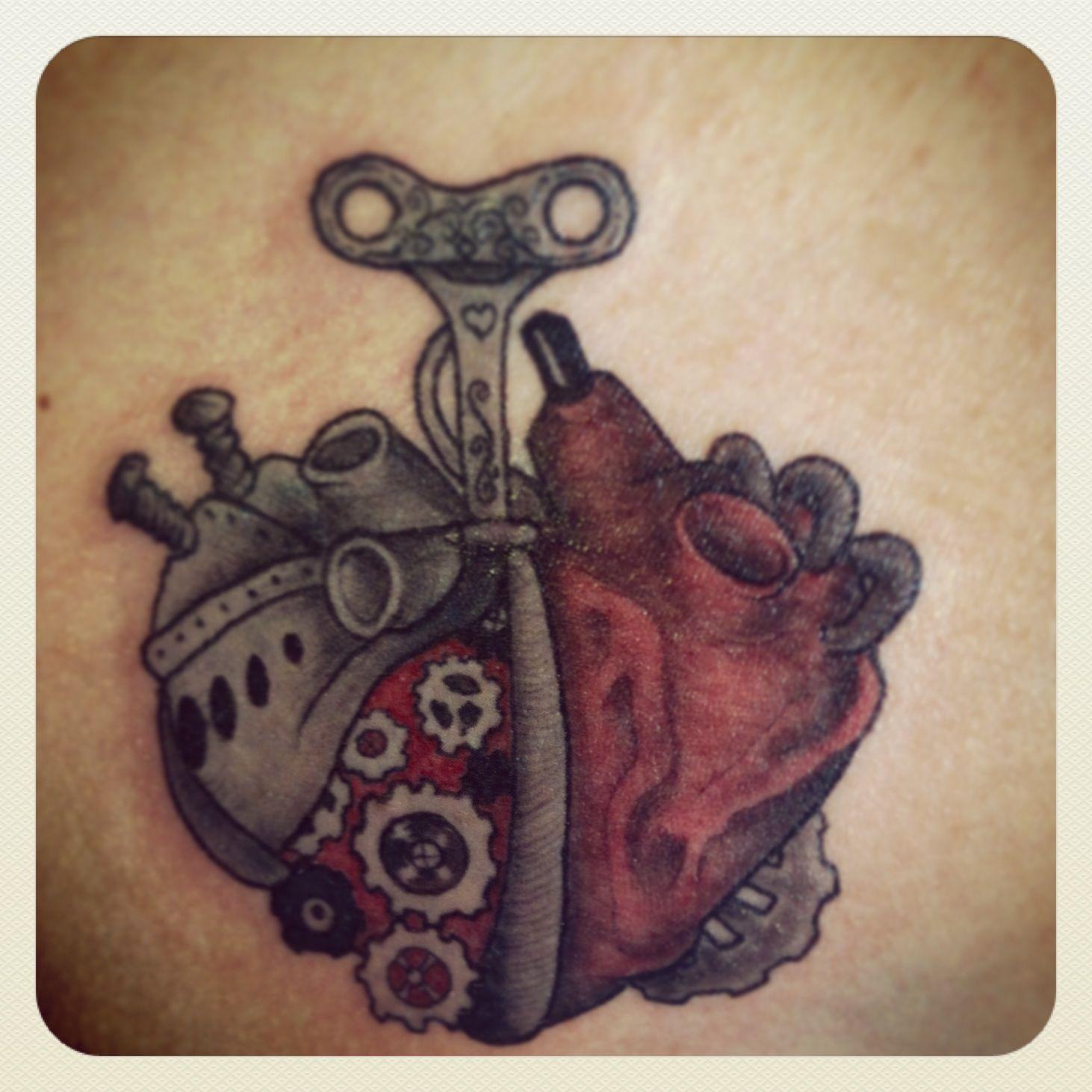 Bio Mechanical Heart Tattoo Steampunk Style Tattoo Bio Mech Mechanical Steampunk Tattoos Heart Tattoo Steampunk Heart Heart Tattoo Designs