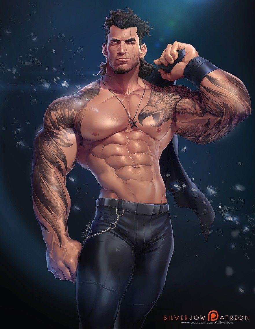Male gay fantasy art