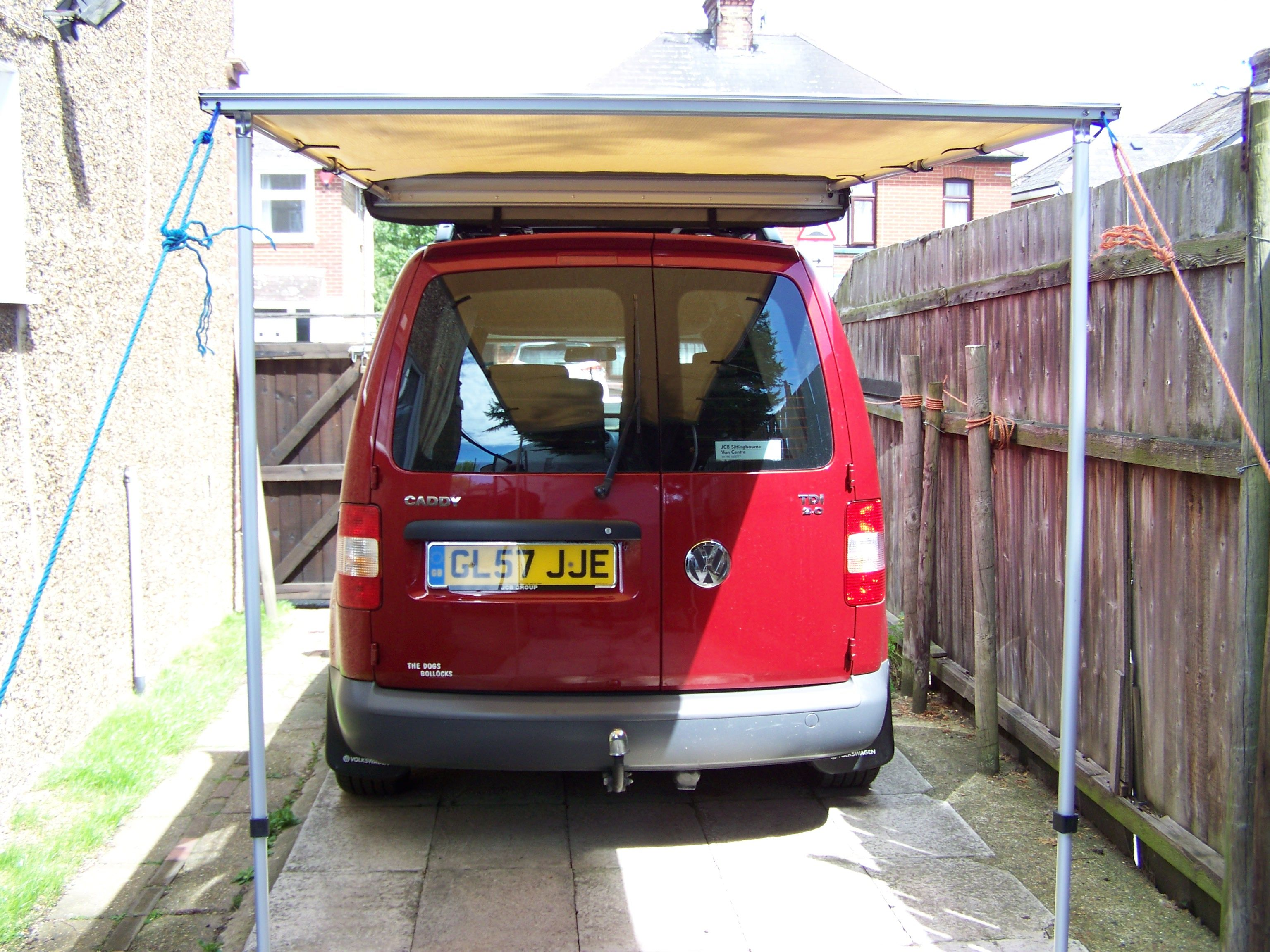 VW CADDY SOLAR CAMPER, ROLL OUT AWNING FITTED | MY VW ...