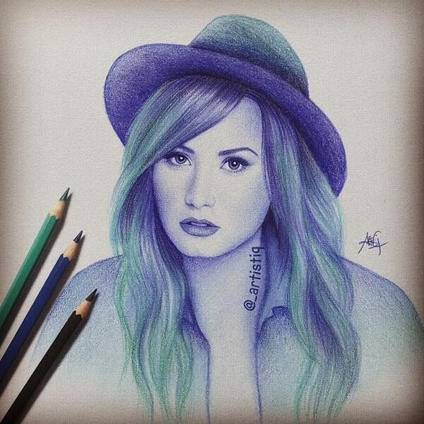 Demi lovato drawing really good