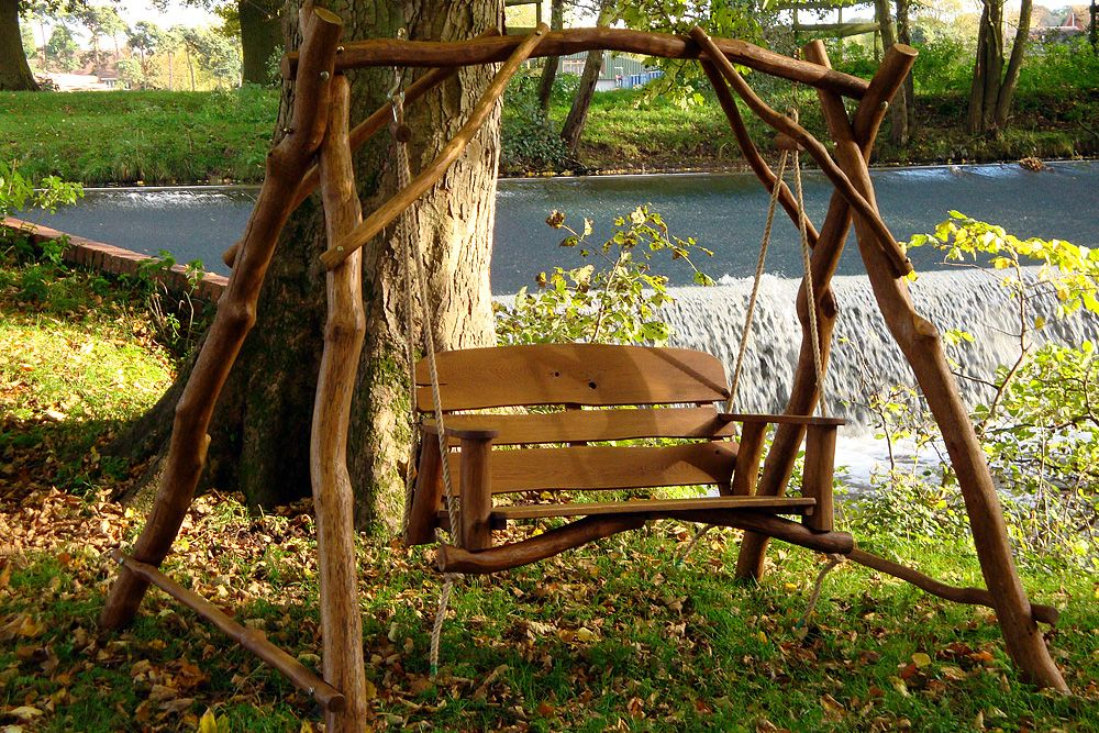 Image Detail For Oak 2 Seater Garden Swing Bench Have A Seat Pinterest Garden Swings And