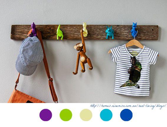 dino hooks diy enfant children tutoriel tuto dinosaure dinosaur porte manteaux. Black Bedroom Furniture Sets. Home Design Ideas