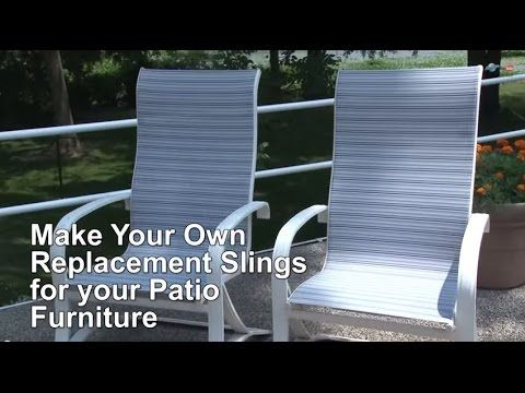 learn how to make your own replacement sling for patio furniture rh ar pinterest com home depot patio chair sling replacement replacement sling patio chair