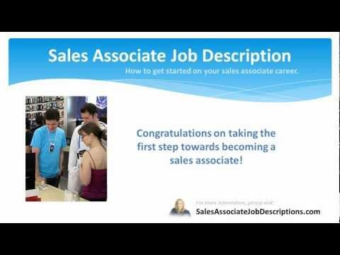 Sales Associate Job Description  Sales Associate Job Description