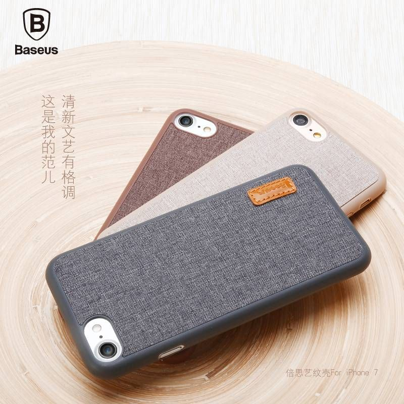 BASEUS Brand Fabric Stylish Back Case For IPhone 7 Plus 6s 6 With Retail Box