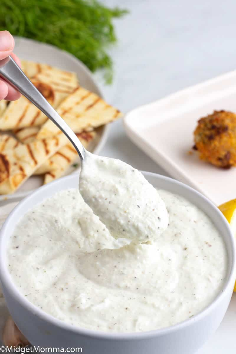 Best Tzatziki Sauce Recipe Made With Cucumber Sour Cream Greek Yogurt Garlic Lemon Juice An In 2020 Best Tzatziki Sauce Recipe Tzatziki Sauce Greek Yogurt Recipes