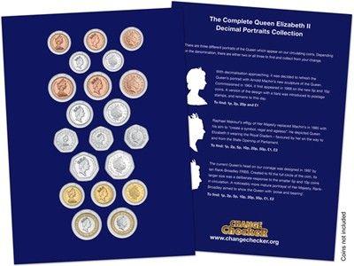 Complete QEII Decimal Portraits Collector Page #ChangeChecker