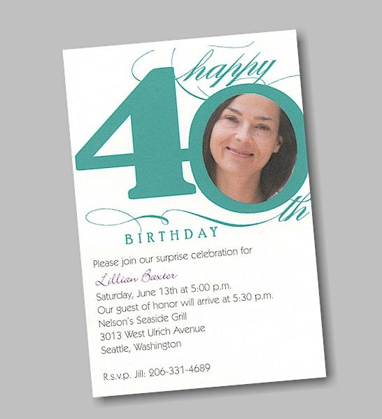 birthday invitation 40th – Sample 40th Birthday Invitation Wording