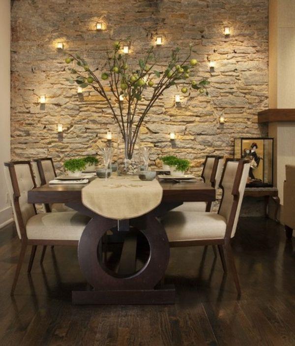 esszimmer steinwand am besten büro stühle home dekoration tipps, Deko ideen