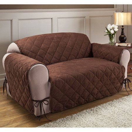 Quilted Microfiber Total Furniture Cover With Ties Home