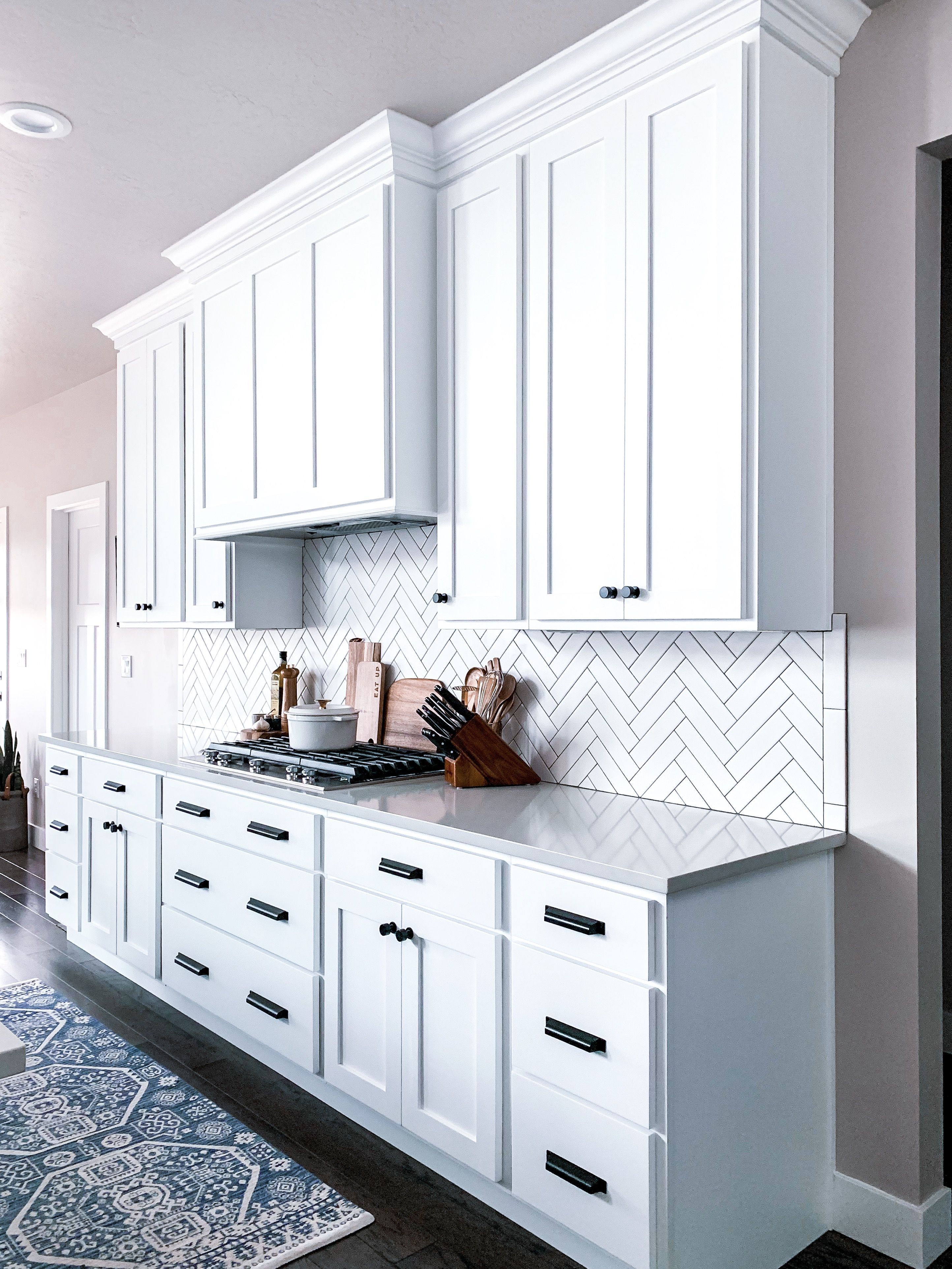 Custom white modern farmhouse kitchen