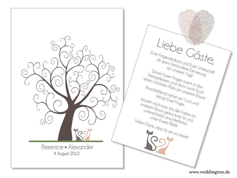 Wedding Tree Katzen Als Gästebuch Pdf