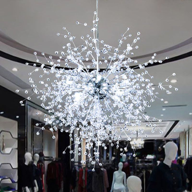 Find more chandeliers information about modern dandelion led crystal find more chandeliers information about modern dandelion led crystal chandeliers lighting firework sparkle ball hanging lamp aloadofball
