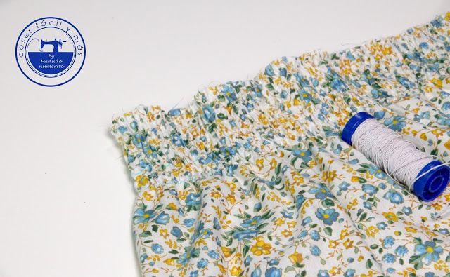 """El blog de """"Coser fácil y más by Menudo numerito"""" - Costura creativa: Cómo fruncir con hilo elástico"""