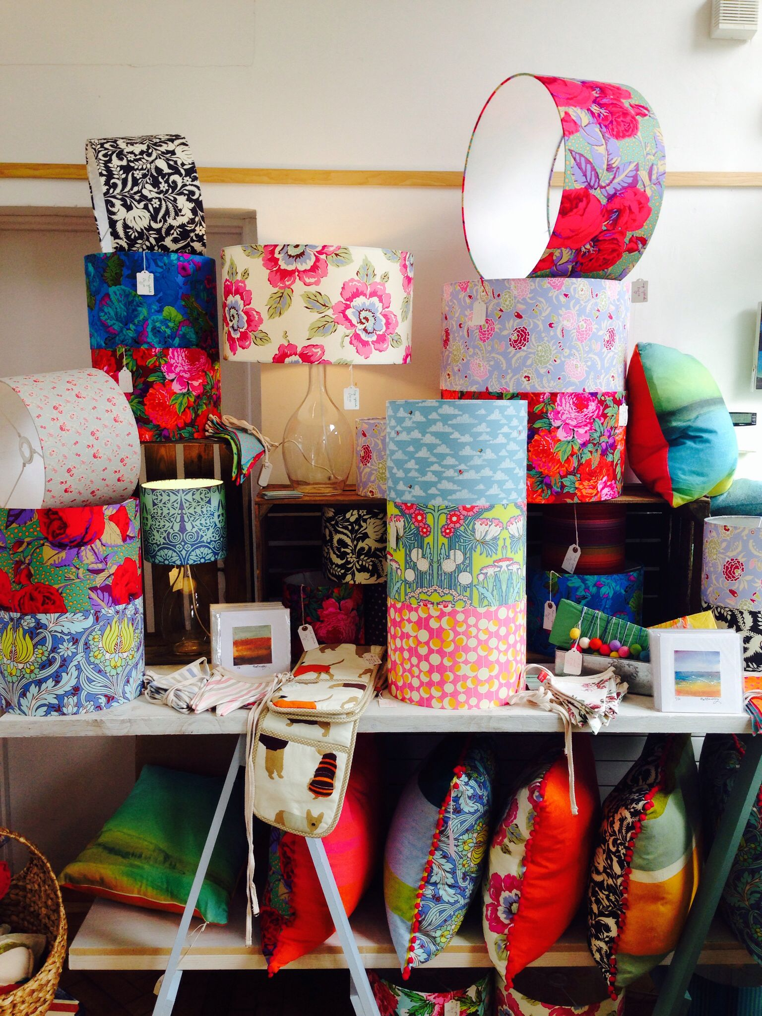Stunning Lampshades by Alex Bromley http://www.brombles-handmadewithlove.co.uk/about-brombles/4564743466