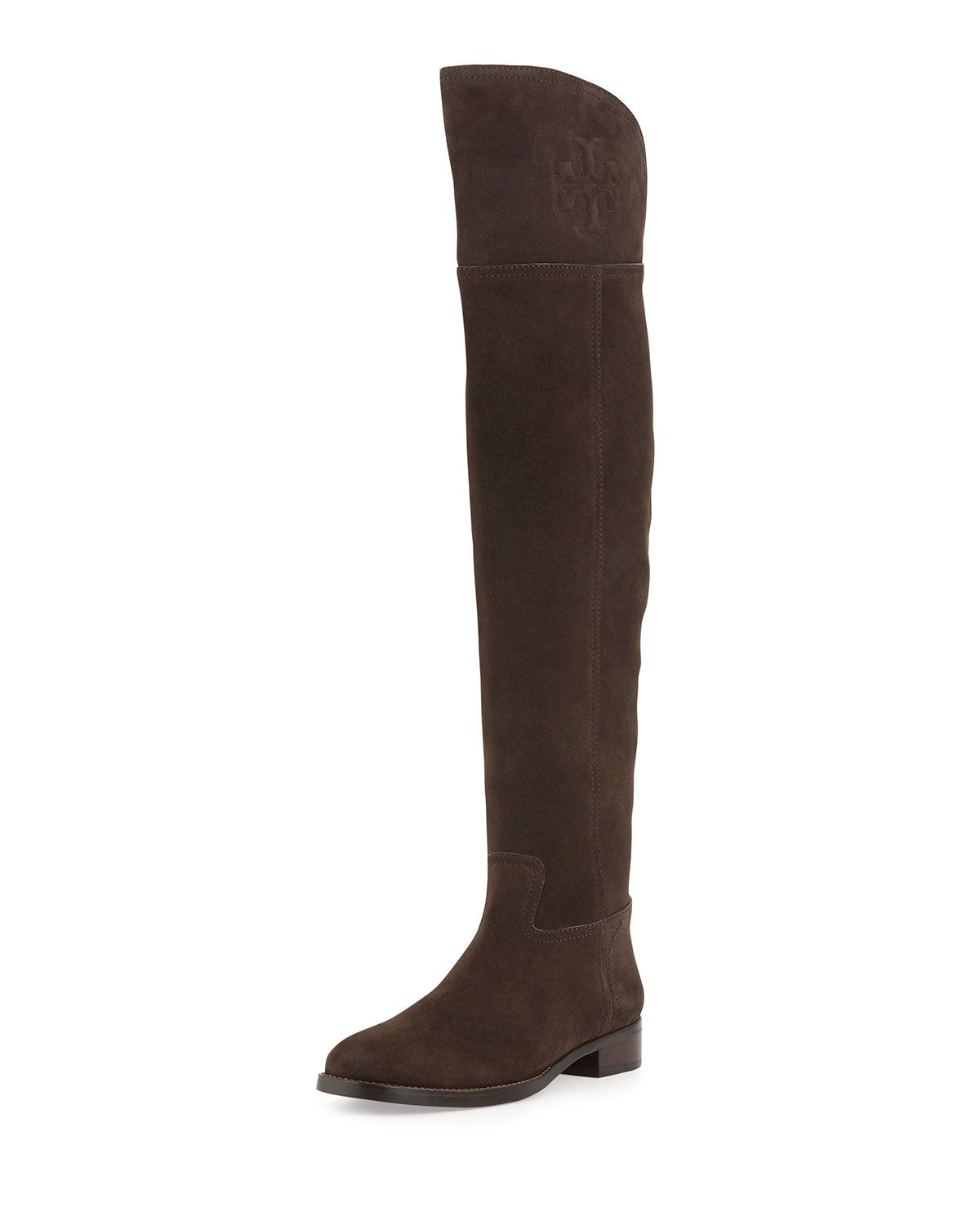 7978211fcc9 Tory Burch Simone Over-the-Knee Suede Boot